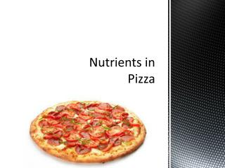 Nutrients in Pizza