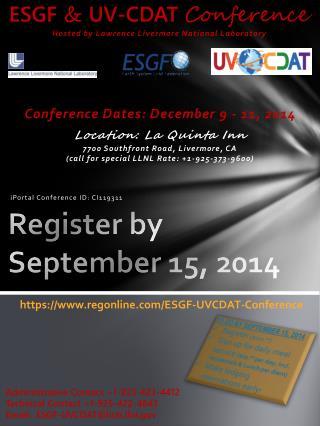 Register by September 15, 2014