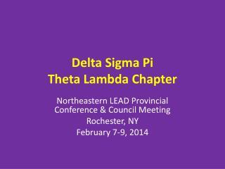 Delta Sigma Pi Theta Lambda Chapter