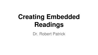 Creating Embedded Readings