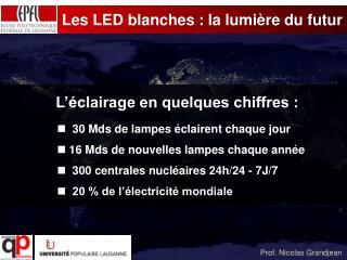 Les LED blanches : la lumière du futur