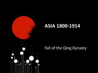 Asia 1800-1914