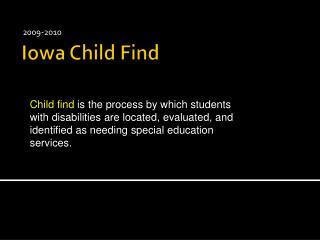 Iowa Child Find
