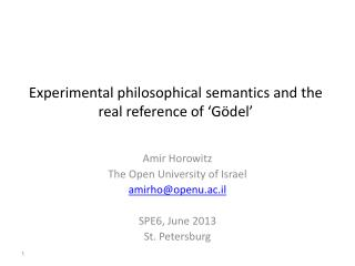 Experimental philosophical semantics and the real reference of 'Gödel'