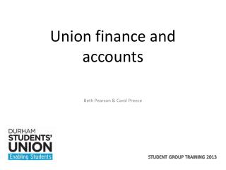 Union finance and accounts