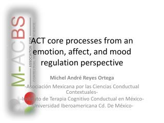 ACT  core processes from an emotion ,  affect , and  mood regulation perspective