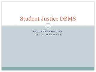 Student Justice DBMS