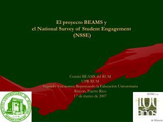 El proyecto BEAMS y el National Survey of Student Engagement ...