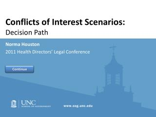 Conflicts of Interest Scenarios:  Decision Path