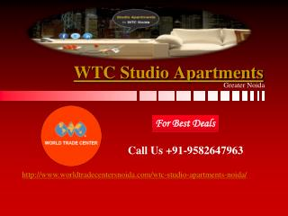 WTC Studio Apartments | WTC Noida Studio Apartments