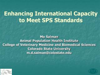 Enhancing International Capacity to Meet  SPS  Standards