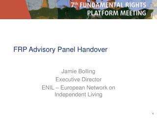 FRP Advisory Panel Handover