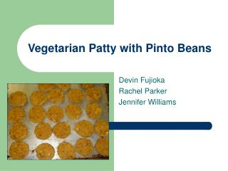 Vegetarian Patty with Pinto Beans