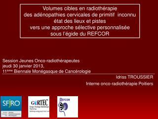 Idriss  TROUSSIER Interne  onco -radiothérapie Poitiers