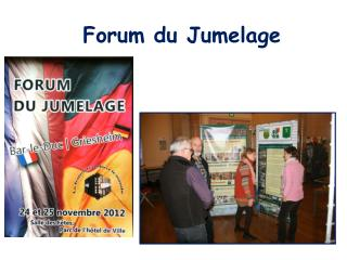 Forum du Jumelage