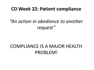 What is non-compliance?