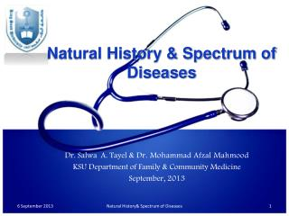 Natural History & Spectrum of Diseases