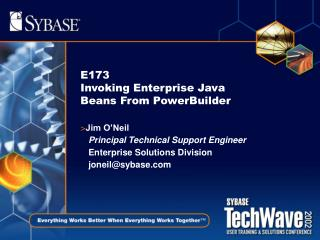 E173  Invoking Enterprise Java Beans From PowerBuilder