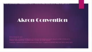 Akron Convention