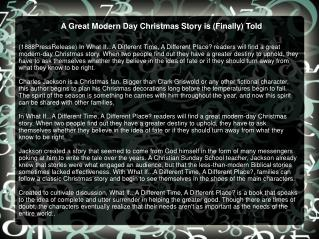A Great Modern Day Christmas Story is (Finally) Told