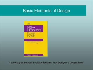 Basic Elements of Design