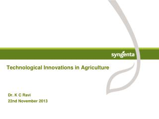 Technological Innovations in  Agriculture