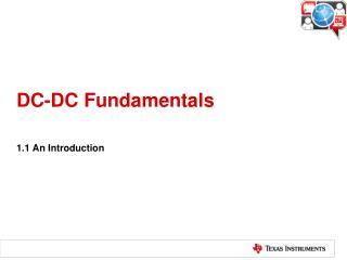 DC-DC Fundamentals