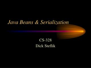 Java Beans  Serialization