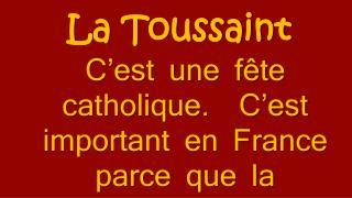 La Toussaint