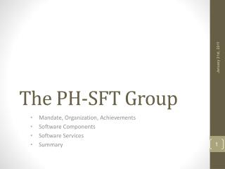 The  PH-SFT  Group