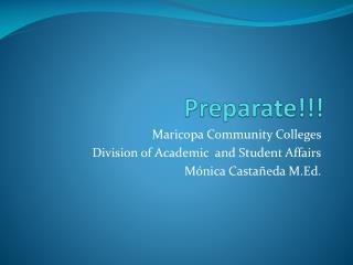 Preparate !!!