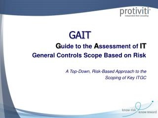 Guide to the assessment of IT General Controls Scope Based on ...