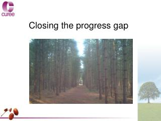 Closing the progress gap