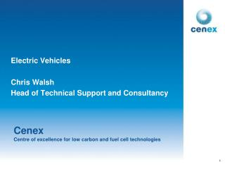 Cenex Centre of excellence for low carbon and fuel cell technologies