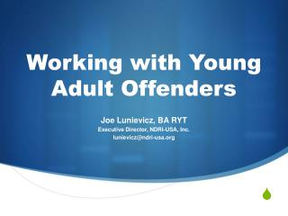Working with Young Adult Offenders