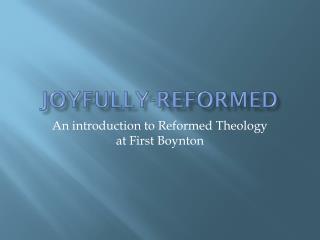 Joyfully-Reformed