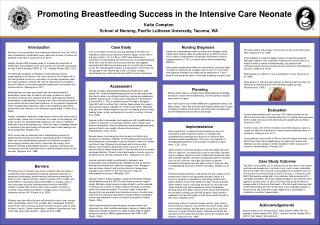 Promoting Breastfeeding Success in the Intensive Care Neonate
