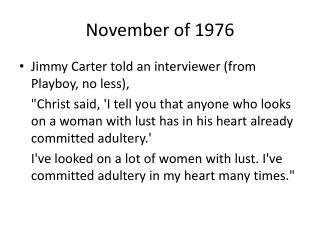 November of 1976
