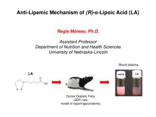 Anti- Lipemic  Mechanism of  (R) -α- Lipoic  Acid (LA)