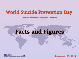 Every year, almost one million people die from suicide;