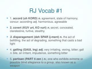 RJ Vocab #1