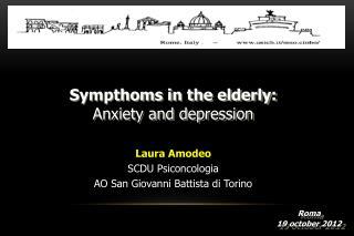 Laura Amodeo     SCDU  Psiconcologia AO San Giovanni Battista di Torino