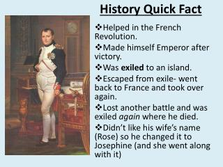 History Quick Fact