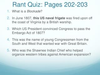 Rant Quiz: Pages 202-203