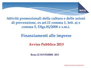 Roma 22 NOVEMBRE  2013