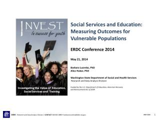 Social Services and Education:  Measuring Outcomes for Vulnerable  Populations
