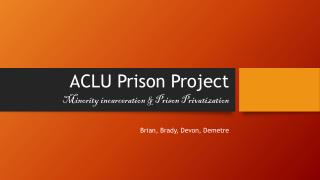 ACLU Prison Project