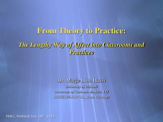 From Theory to Practice: The Lengthy Way of Affect into Classrooms and Practices
