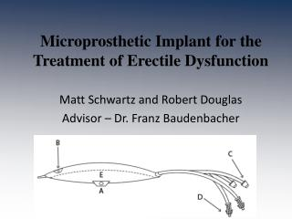 Microprosthetic  Implant for the Treatment of Erectile Dysfunction