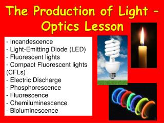 The Production of Light � Optics Lesson